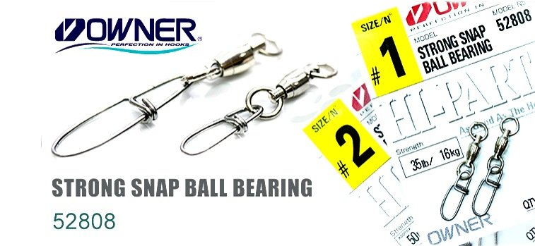 Застёжка Owner 52808-0 STRONG SNAP BALL BEARING
