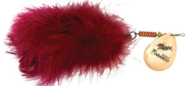 Блесна Mepps GIANT MARABOU Copper/Red (блистер)