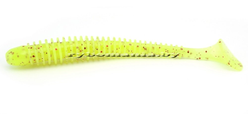 "Силикон Keitech Swing Impact 3.0"" #PAL01S Chartreuse Red Flake"