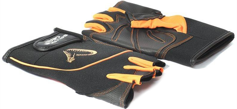 Перчатки Savage Gear PROTEC GLOVES XL BLACK/ORANGE