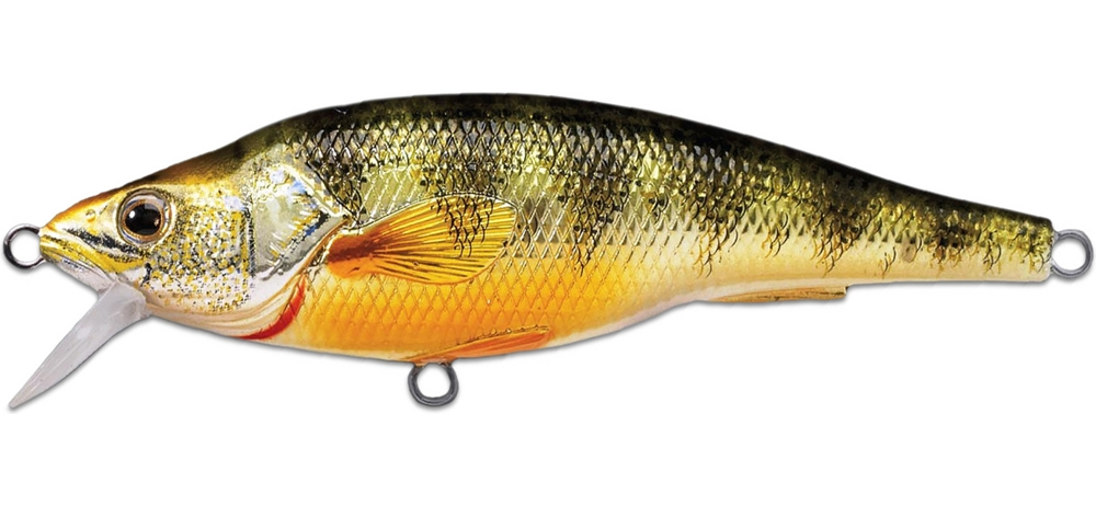 Воблер LIVETARGET Yellow Perch Jerkbait 115SP # 102 (Metallic/Gloss)
