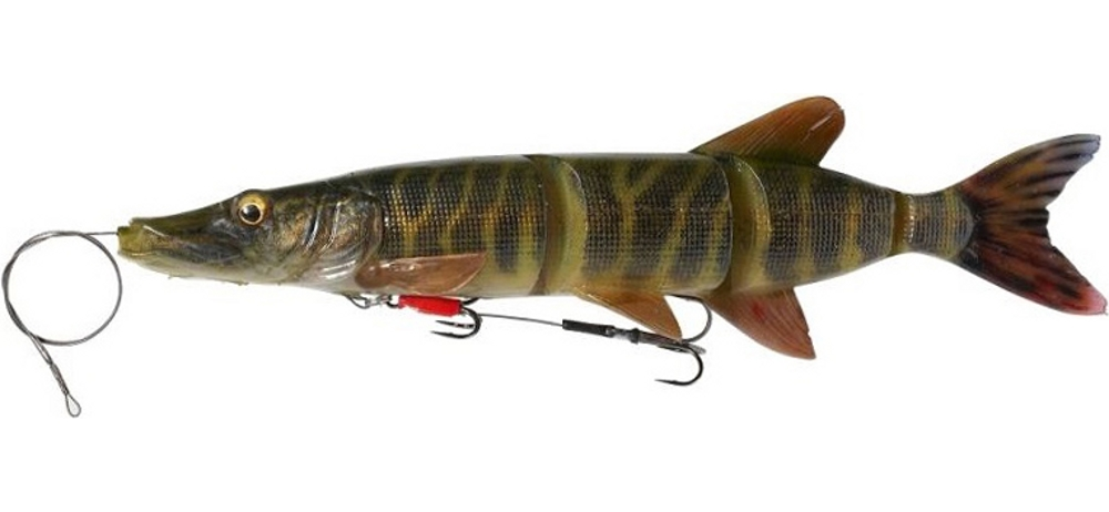 Воблер Savage Gear 4D Line Thru Pike 25cm 105гр SS #Striped Pike
