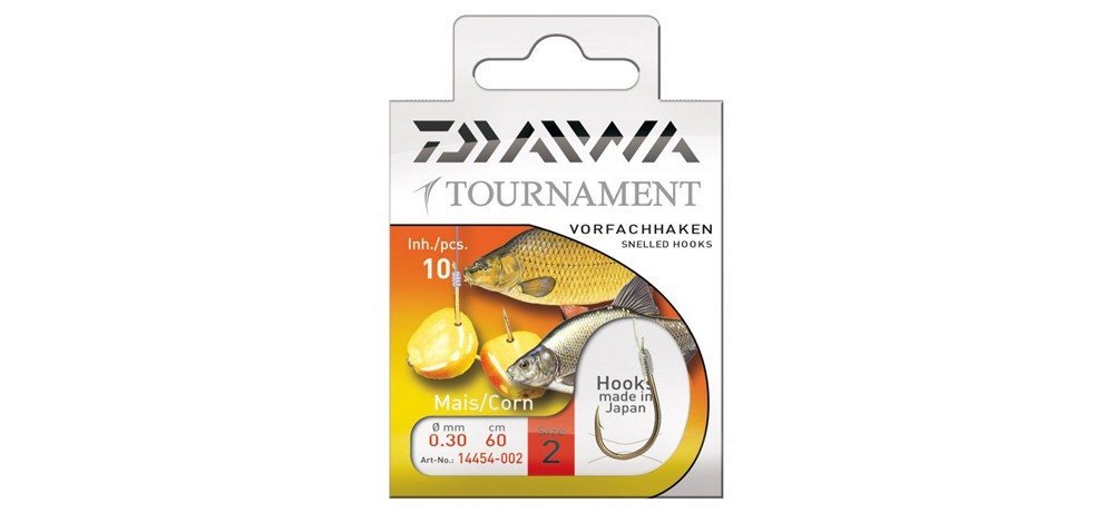 Крючки Daiwa TOURNAMENT Mais Hook #8 (10 шт в уп)