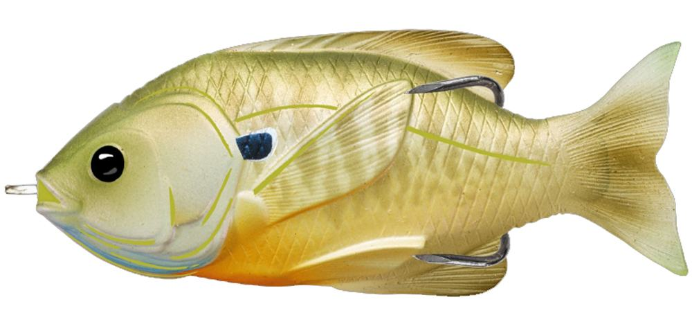 Воблер LIVETARGET Sunfish Hollow Body 75 # 554 (Natural/Green Bluegill)