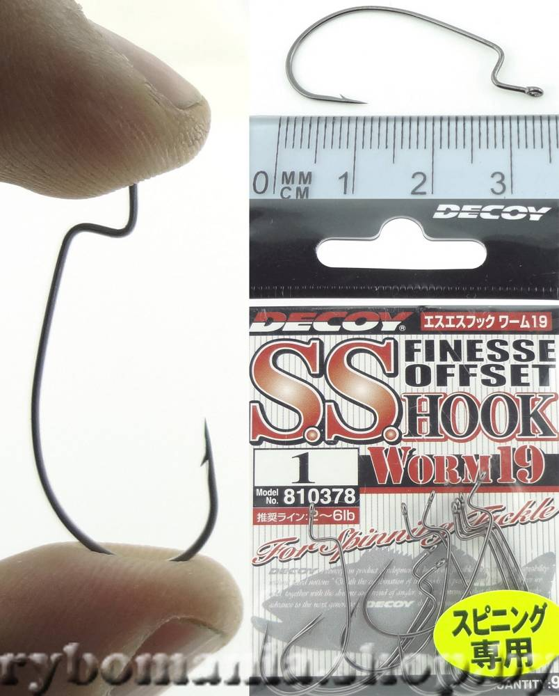 Крючки Decoy S.S. Hook Worm 19 №1 (9шт в уп)